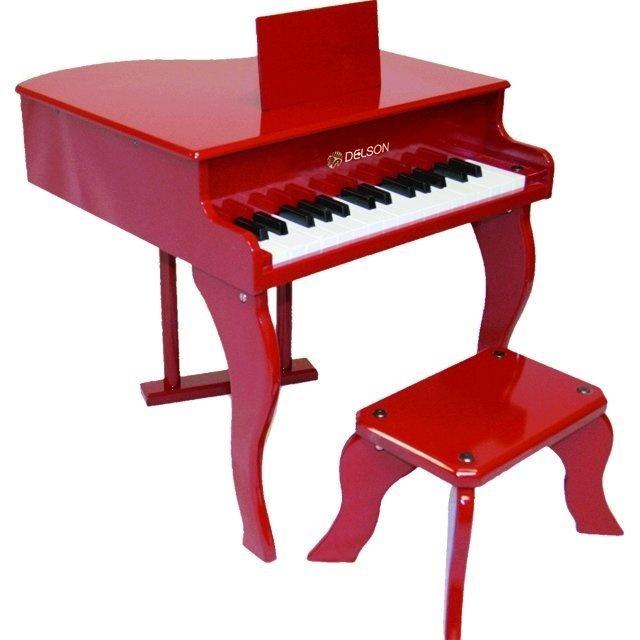 piano queue rouge pour enfant avec tabouret frais de. Black Bedroom Furniture Sets. Home Design Ideas