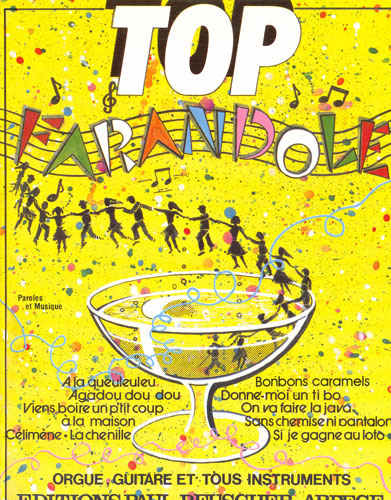 Sheet music top farandole lyrics and chords for Allez viens boire un petit coup a la maison