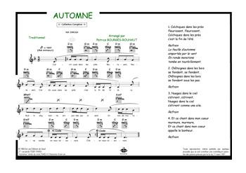 Automne colchiques dans les pr s comptine piano voix accords tablatures guitare tout - Colchique dans les pres ...