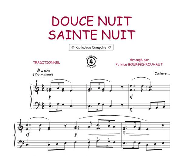 Belle Nuit Sainte Nuit Comptine Piano Voix Accords