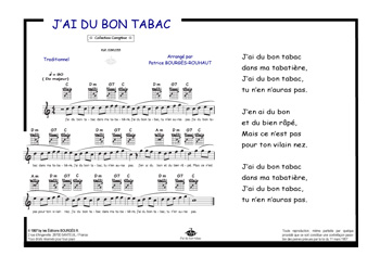 partition guitare j'ai du bon tabac