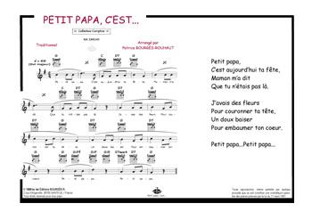 Editions Musicales Bourgès R Petit Papa Cest Aujourdhui Ta Fête
