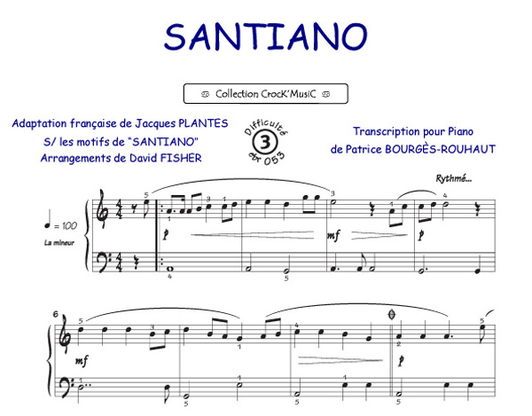 partition accordeon santiano