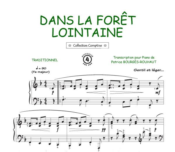 Le Coucou Dans La Forêt Lointaine Comptine Piano Voix