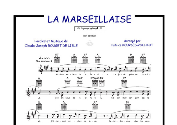 la marseillaise collection crock 39 music piano voix accords tablatures guitare tout. Black Bedroom Furniture Sets. Home Design Ideas