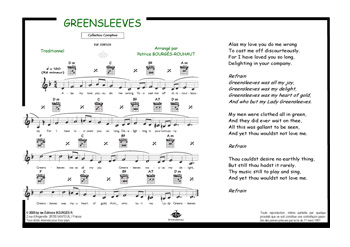 Partition piano greensleeves