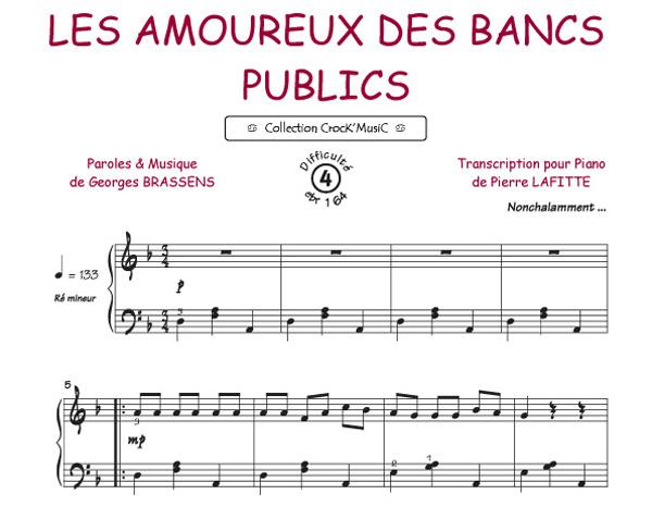 Editions musicales bourg s r les amoureux des bancs - Les amoureux des bancs publics paroles ...