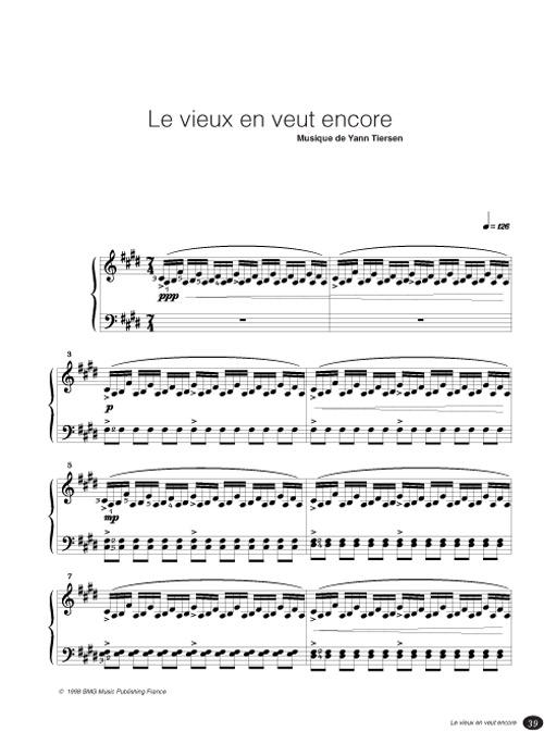 partition piano rue des cascades gratuite