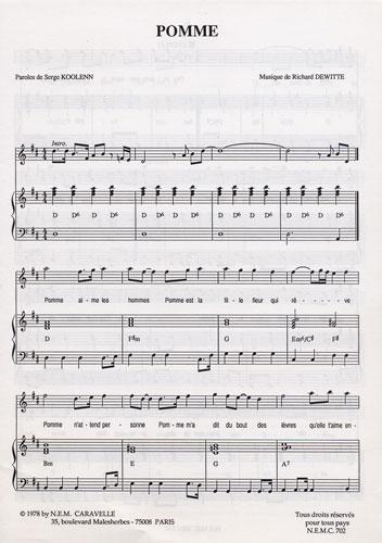 partition piano pomme c calogero