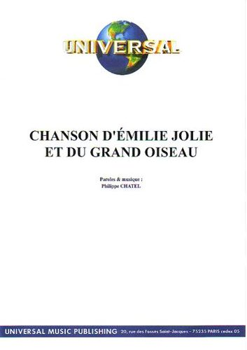 partition chanson du herisson emilie jolie