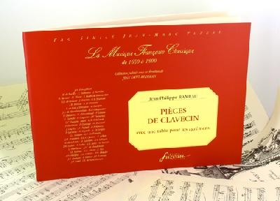 Rameau, Jean-Philippe : Rameau Harpsichord pieces with an ornament table Harpsichord