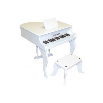 piano queue blanc pour enfant avec tabouret frais port inclus piano buy online free. Black Bedroom Furniture Sets. Home Design Ideas