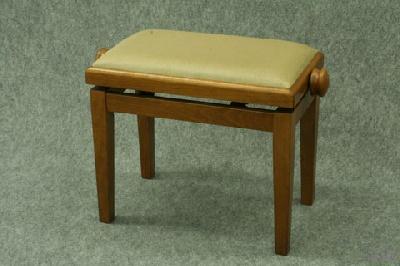 banquette de piano bois merisier mat tissu beige acheter accessoires de musique. Black Bedroom Furniture Sets. Home Design Ideas