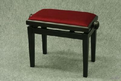 banquette de piano bois de rose mat tissu rouge rubis coll e acheter accessoires de. Black Bedroom Furniture Sets. Home Design Ideas