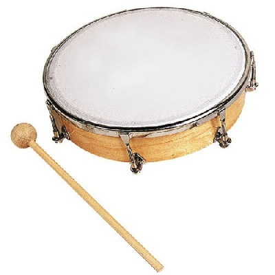 Tambourin 20 Cm Peau Synthetique Sans Cymb.