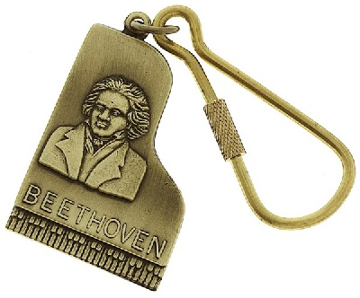 Porte-Clefs - Piano Beethoven (Or)