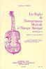 Veilhan, Jean-Claude : Règles de l'Interprétation Musicale à l'Epoque Baroque (Version Francaise)