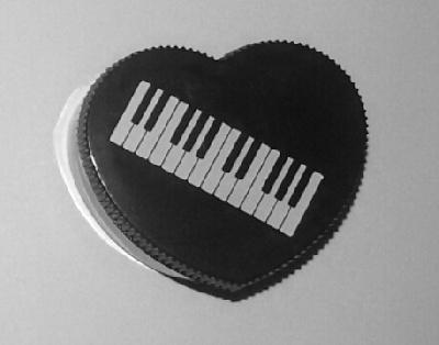 Single Piano Shaped Pencil Sharpener Heart Shape Black
