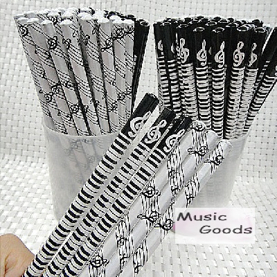 Crayon à Papier - Touches de Piano Noir [Pencils - Piano Keyboard Black]