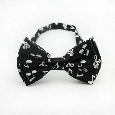 Noeud Papillon - Croche et Clé de Sol Noir [Bow Tie - Half Quarter and G Key Black]