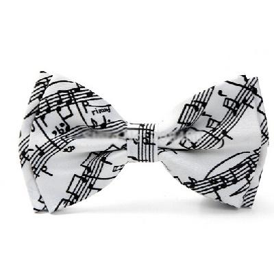N?ud Papillon - Portée de Musique Blanc [Bow Tie - Music Staves White]