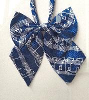 Noeud Papillon pour Femme - Portée de Musique Bleu [Bow Tie For Women - Music Staves Blue]