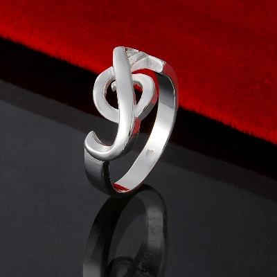 Bague Argent Massif - Clé de Sol - Taille 8 [Silver Ring - G Key - Size 8]