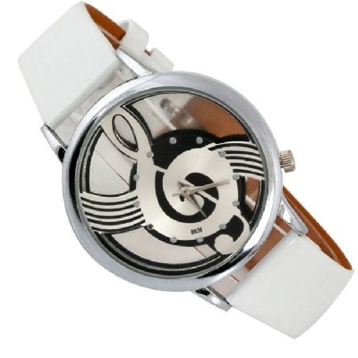 Montre Clé de Sol - Blanc [Wrist Watch G Key White]