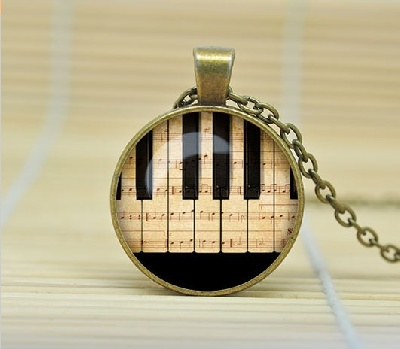 Necklaces with Pendant - Piano Keys