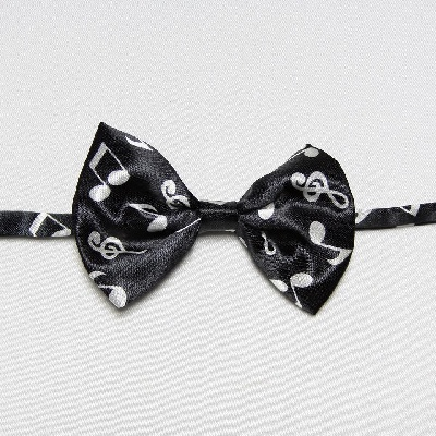Noeud Papillon pour Enfant [Bow Tie For Children - Musical Notes Black]