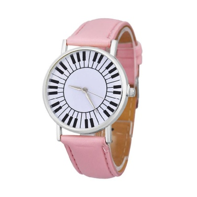 Montre Cadran Touches de Piano - Rose [Wrist Watch Piano Keys Pink]