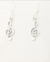 Boucles d\'Oreilles - Clé de Sol [Earrings -Treble Clef]