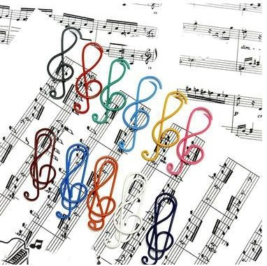 Trombones  Clé De Sol - Assortiment De Couleurs