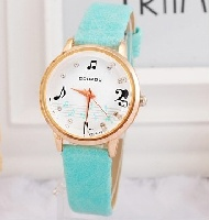 Montre - Motifs Musicaux - Turquoise [Wrist Watch Music Notes - Turquoise]