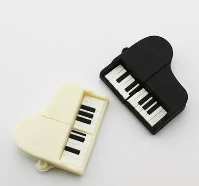 USB Flash Drive Piano 16GB White