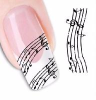 Autocollants pour Ongles - Porté de Musique [Nail Stickers]