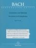 Inventions et Symphonies BWV 772-801 (Inventions � deux et trois voix) (Bach, Johann Sebastian)