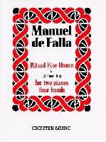 DE FALLA MANUEL RITUAL OF FIRE 2 PIANOS 4 MAINS