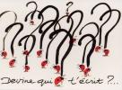 Carte Postale d\'Art `Devine qui t\'écrit ?`