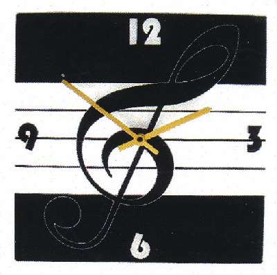 Horloge - Square Treble Clef