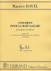 Maurice Ravel : Concerto pour la Main Gauche : Piano et Réduction Orchestre