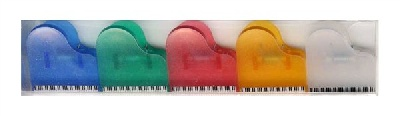 5 Mini Clips Piano - Assortiment de Couleurs