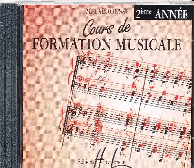 CD audio : Cours de Formation Musicale - Volume 2