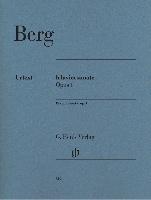 Berg, Alban : Klaviersonate Opus 1