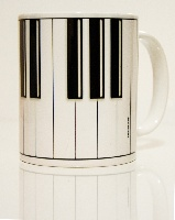 Mug Touches de Piano [Piano Keys Mug]