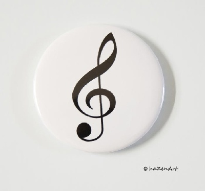 Magnet Clé de sol Blanc Grand [Magnet G Key White Big]