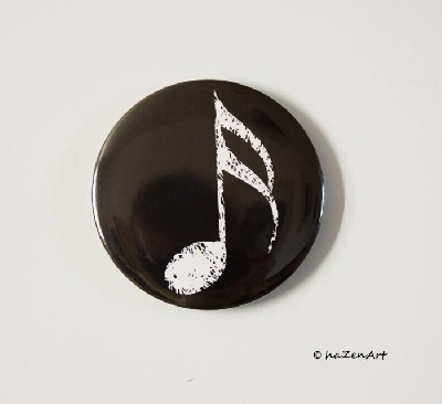 Magnet Double Croche Noir [Magnet Semiquaver Black Big]