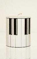 Bougie Ronde - Petit Modèle - Touche de Piano [Candle Piano Keys]
