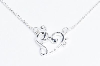 Pendentif Coeur de Clés + Chaîne de cou 40 cm HazenArt (Argent Massif)