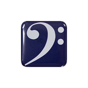 Magnet Clé de Fa Bleu [Magnet F Key Blue]